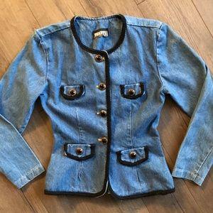 Jackets & Blazers - Vintage 80's Retro Denim Jacket Button Up